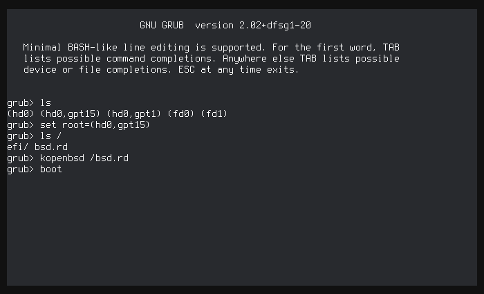 screenshot of things not working